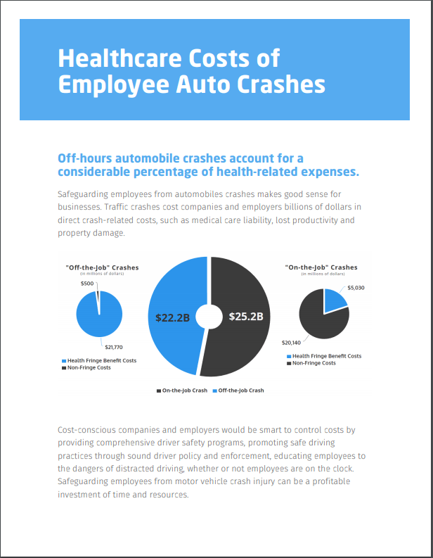 Train your employees to reduce the Healthcare Costs of Employee Auto Crashes