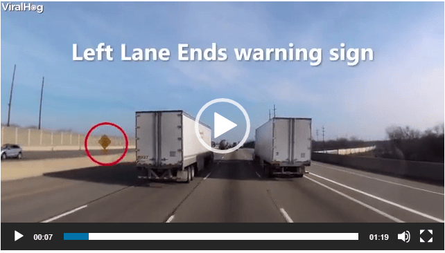 What NOT to do When Your Lane is Ending – the Lane Drop